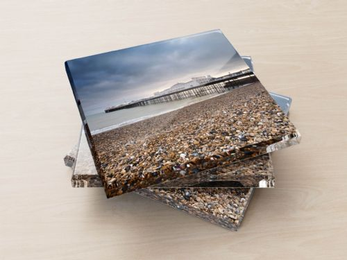 Brighton Beach - Glass Coasters